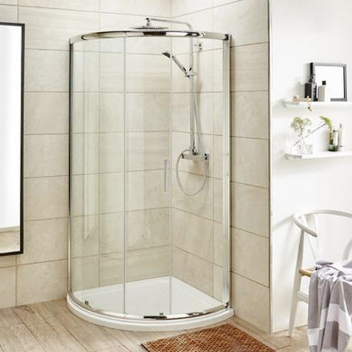 Ice Chrome 860mm Single Entry Quadrant Shower Enclosure 6mm
